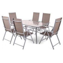 Zestaw mebli ogrodowych aluminiowych Ibiza Basic Silver/Taupe 6+1 z kategorii Zestawy ogrodowe