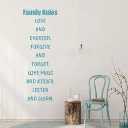 Szablon malarski sentencja family rules 2434