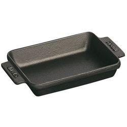 Staub małe naczynie do pieczenia kwadratowe 15 x 11 cm czarne