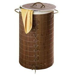 Bambusowy kosz na pranie, ciemny brąz, 55 litrów, WENKO (4008838177716)