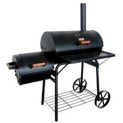 Hecht czechy Hecht sentinel duży grill węglowy ogrodowy z wędzarką wędzarnia 2 paleniska termometr komin 115cm ewimax - oficjalny dystrybutor - autoryzowany dealer hecht