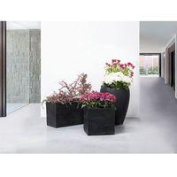 Doniczka czarna - ogrodowa - balkonowa - ozdobna - 80x30x40 cm - OULU