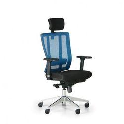 Krzesło biurowe metrim, czarny/niebieski marki B2b partner