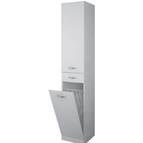 Elita Aqua Line słupek łazienkowy 35x35,5x187 cm wysoki z koszem biały 164027 - oferta [05dde10a81c246d6]