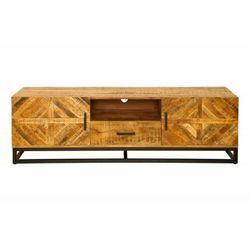 Sofa.pl Invicta stolik rtv infinity home 160 cm - mango, drewno naturalne, metal