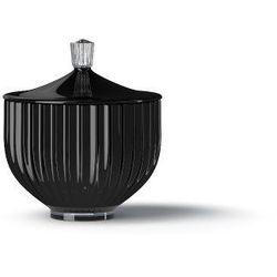 Bomboniera porcelanowa, cukiernica 16 cm, czarna - Lyngby Porcelain (5711507213040)