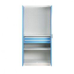 B2b partner Szafa warsztatowa z perforowaną ścianką tylną, 2 półki, 2 szuflady