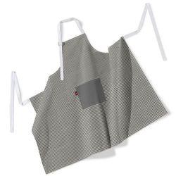 Dekoria Fartuch szefa kuchni męski, szaro biała krateczka (0,5x0,5cm), 123x100 cm, Quadro