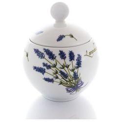 Cukiernica lawenda porcelanowa biała marki Lubiana