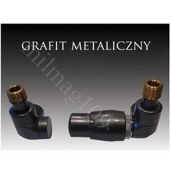 Zestaw zaworów grzejnikowych termostatycznych lux prawy grafit, marki Mera term