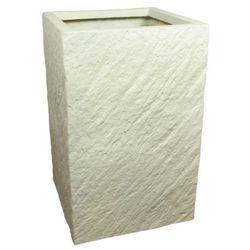 Donica kompozytowa Cermax kwadratowa 24 x 24 x 38 cm biały, MPSS31226/3/D3BI