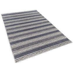 Beliani Dywan beżowo-szary bawełniany 120x170 cm patnos (7081453029476)