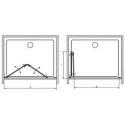 Radaway  carena dwb drzwi wnękowe składane harmonijkowe 80x195 cm 34512-01-01nl lewe