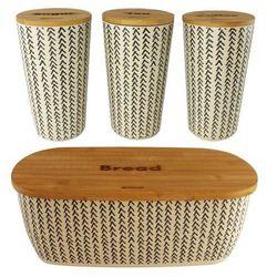 Chlebak + 3 pojemniki zestaw bambus 502 552 marki Kassel