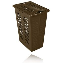 BRANQ KOSZ NA BIELIZNĘ ZEBRA 30L - Brązowy - produkt z kategorii- Kosze na pranie