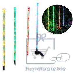 Komplet 4 x LED kolorowe ogrodowe solarne pręty Garth (4025327339950)