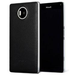 Etui Mozo Back Cover Czarno-Srebrne do Microsoft Lumia 950 XL (950XLBBSWN) - Czarno-Srebrny, kup u jednego z p