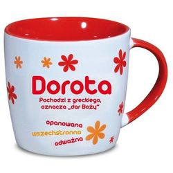 Nekupto, Dorota, kubek ceramiczny imienny, 330 ml