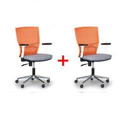 Krzesło biurowe haag 1+1 gratis pomarańczowo/ szare marki B2b partner