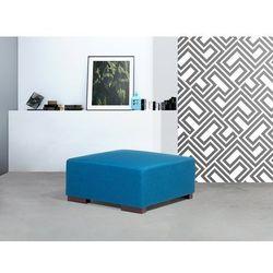 Pufa niebieska - podnóżek - ottoman - hocker - tapicerowany - LUNGO (7081454813814)