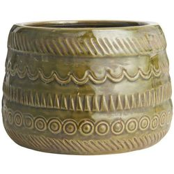 Ib Laursen - Doniczka ceramiczna ze wzorem oliwkowa