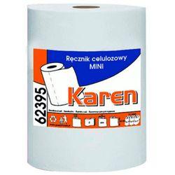 Ręcznik papierowy w roli mini dwie warstwy 65 m biały celuloza