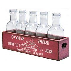 Kare Design Skrzynka z Butelkami Loft Kitchen (6/Set) czerwona - 33563czer - produkt z kategorii- Pozostałe d