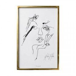 GRAFIKA Z RAMIE GOLD WOMEN BLOOMINGVILLE 60x40 cm, 22200018
