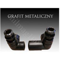 Zestaw zaworów grzejnikowych VISION prawy GRAFIT METALICZNY - produkt z kategorii- Zawory i głowice