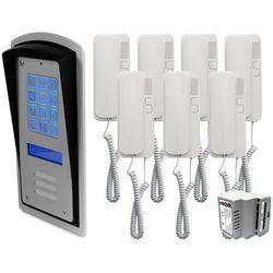 Zestaw 7-rodzinny panel domofonowy wielorodzinny z szyfratorem RADBIT BRC10 MOD, ZR12324