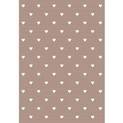 Agnella Dywan soft serca beige/beż 133x190