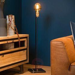 ottelien 30771/10/30 lampa stojąca podłogowa 1x60w e27 czarny/satynowy mosiądz marki Lucide