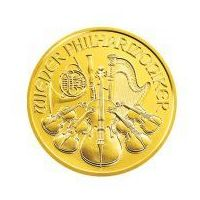 1 uncja x 50 szt. Złoty Wiedeński Filharmonik - Złota Moneta - Dostawa Natychmiastowa