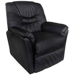 Vidaxl fotel wypoczynkowy, masujący, podgrzewany, czarny