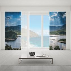 Zasłona okienna na wymiar komplet - BEAUTY OF LAKE