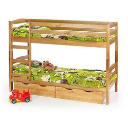 Drewniane łóżko piętrowe Dixi, Sam + szuflady