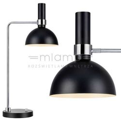 Markslojd Biurkowa lampka stojąca larry 106859  metalowa lampa stołowa kopuła czarna