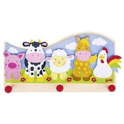 Goki Wieszak na ubrania dla dzieci - farma