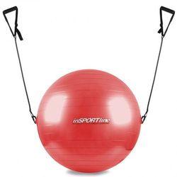 Piłka gimnastyczna z linkami 55cm inSPORTline - Kolor Czerwony z kategorii Piłki i skakanki