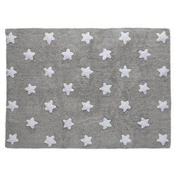 Dywan do Prania w Pralce Grey Stars White - produkt z kategorii- Dywany dla dzieci
