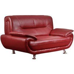 Sofa 2-osobowa z materiału skóropodobnego nigel - czerwony marki Vente-unique