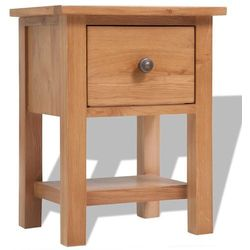 Vidaxl szafka nocna z drewna dębowego 36x30x47 cm, brąz (8718475528050)