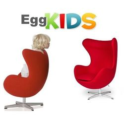 King home Fotel dziecięcy egg kids czerwony.17 - wełna, podstawa chromowana (5900000019505)