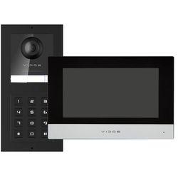 Zestaw wideodomofonu IP Vidos natynkowy stacja bramowa z szyfratorem monitor 7''