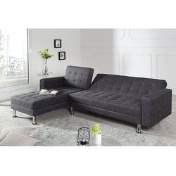 Interior Sofa narożna confort szara (z funkcją spania)