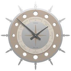 Zegar ścienny compass  lniany marki Calleadesign