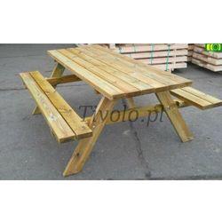 Stół drewniany do ogrodu dl. 200 cm - 8 osób od ploty-pergole.pl