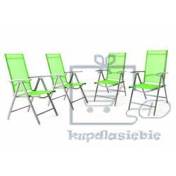 Garthen Komplet 4 krzesła aluminiowe rozkładane garth zielone (4025327996900)