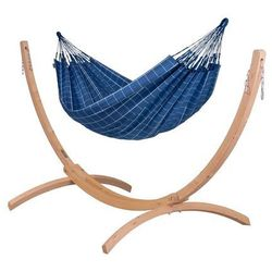 Hamak ze stojakiem drewnianym brisa iii & canoa 2os. marki Hamaki la siesta