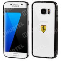 FERRARI FEHCS7EBK oryginalne etui hard case Samsung Galaxy S7 Edge G935 czarne przezroczyste (Futerał telefon
